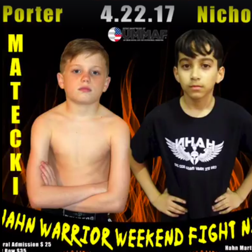 Porter Matecki gearing up to fight