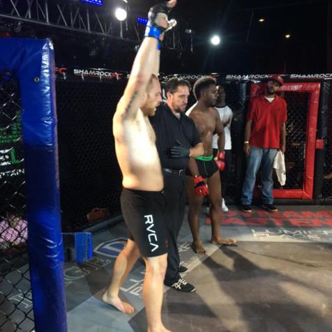 Randall Hawkins wins MMA match